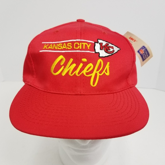 f21752e6069 Annco VTG Kansas City Chiefs Snapback Hat Cap Red